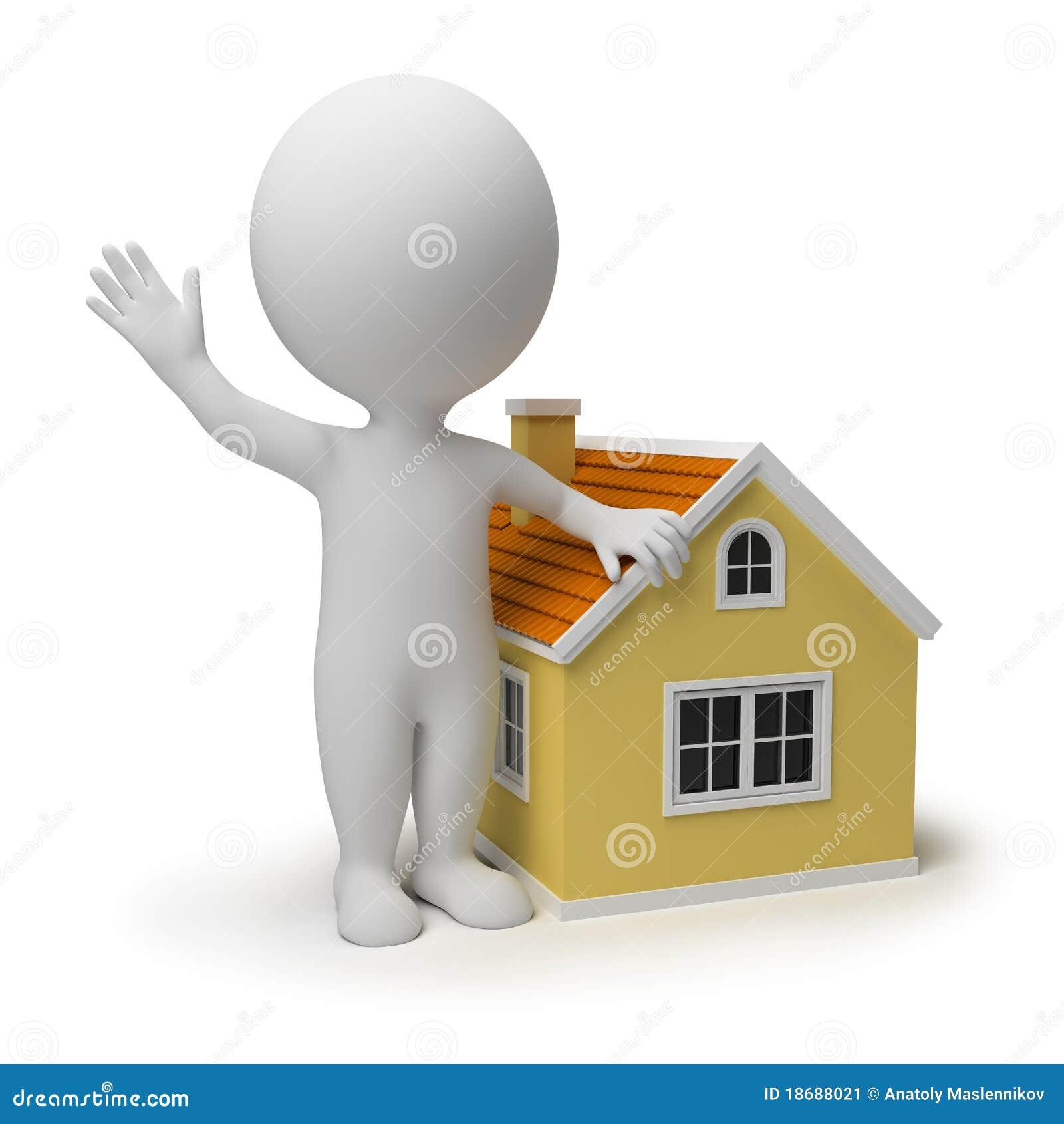 3d kleine mensen - huis