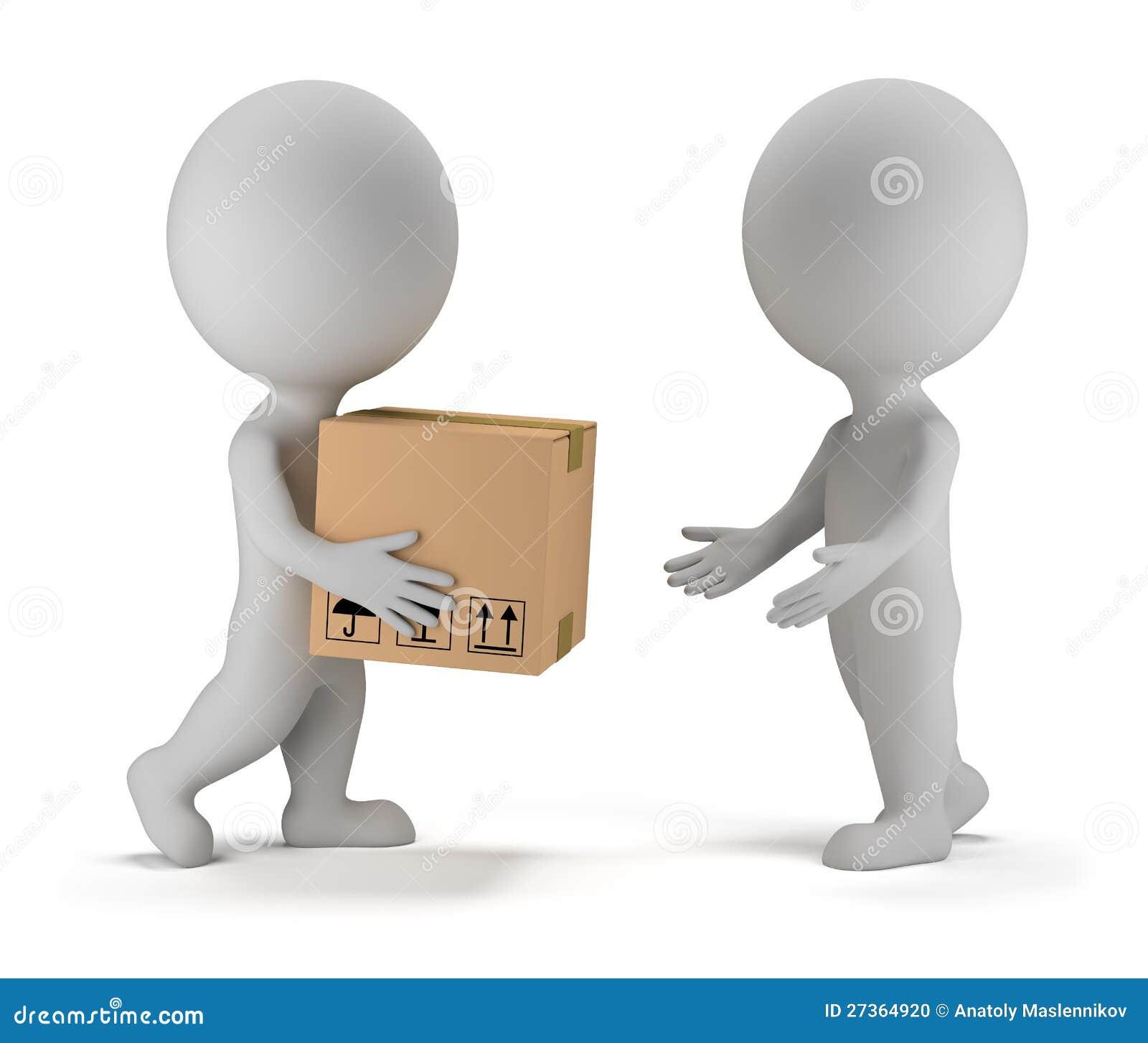 3d kleine mensen - pakketlevering