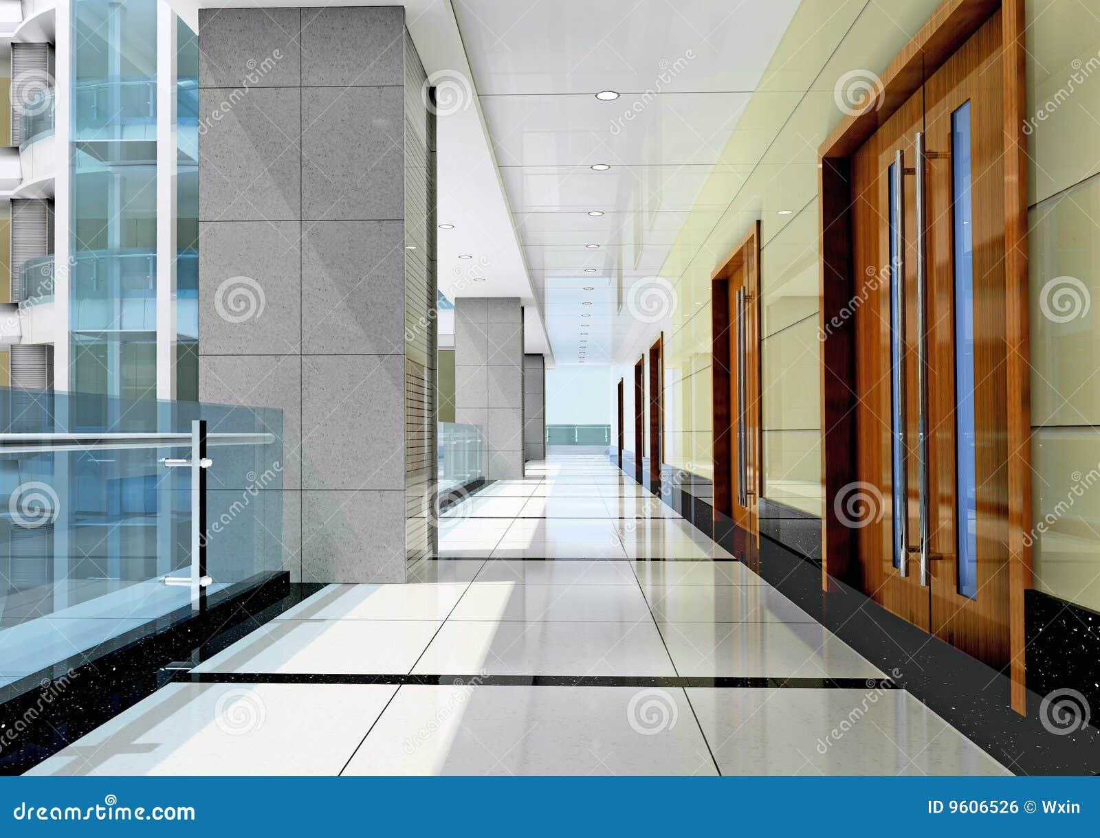 3d korytarz futurystyczny