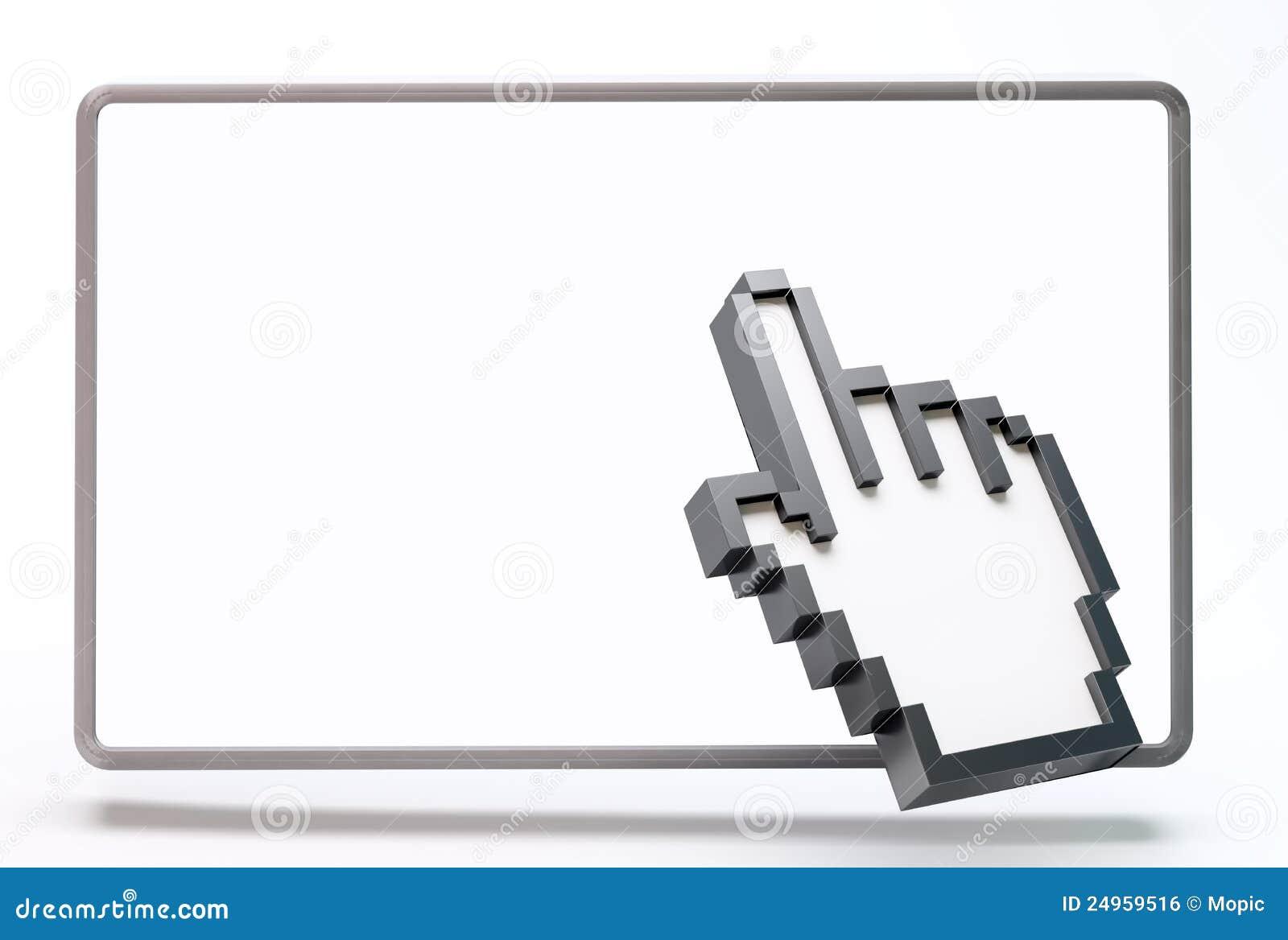 3d kursor komputerowa ręka