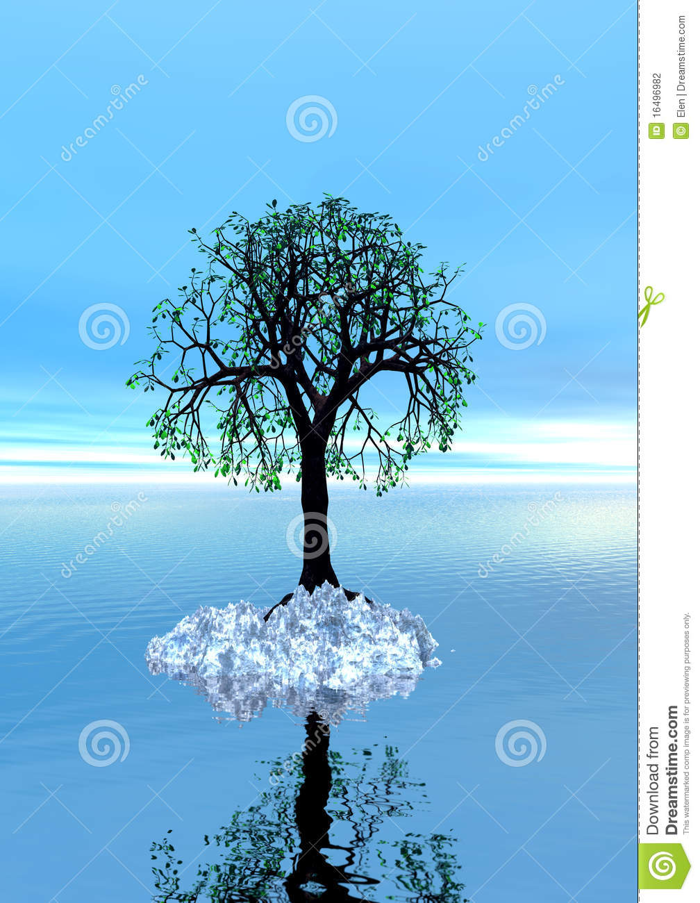 More similar stock images of 3d landscape with fall tree - 3d Landscape With Lonely Tree Spring Stock Photography