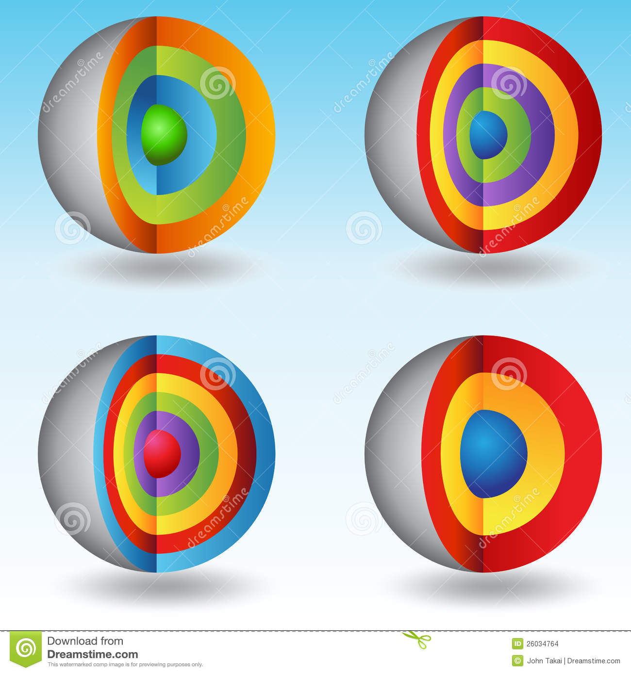 3D Layered Core Sphere Charts Stock Vector Image 26034764