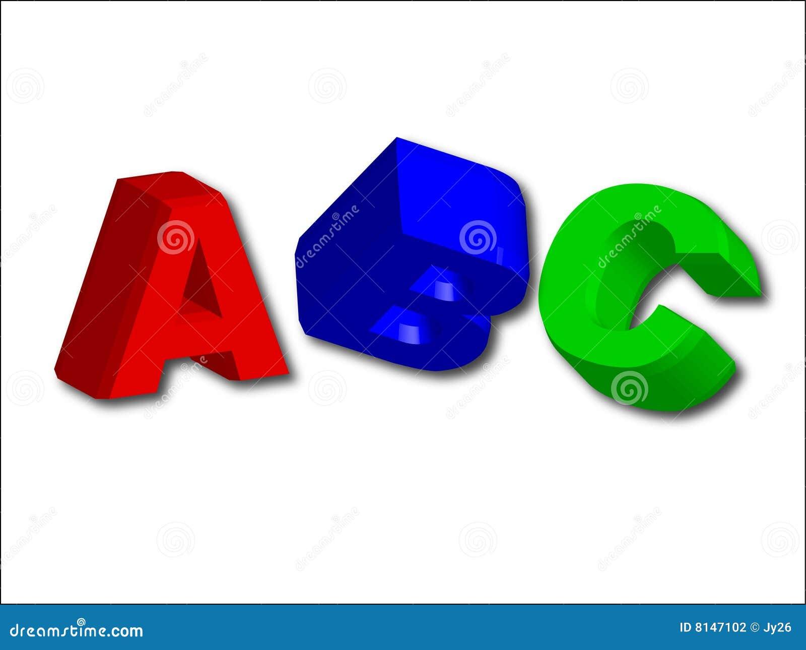 3D letra el ABC (fácil como ABC)