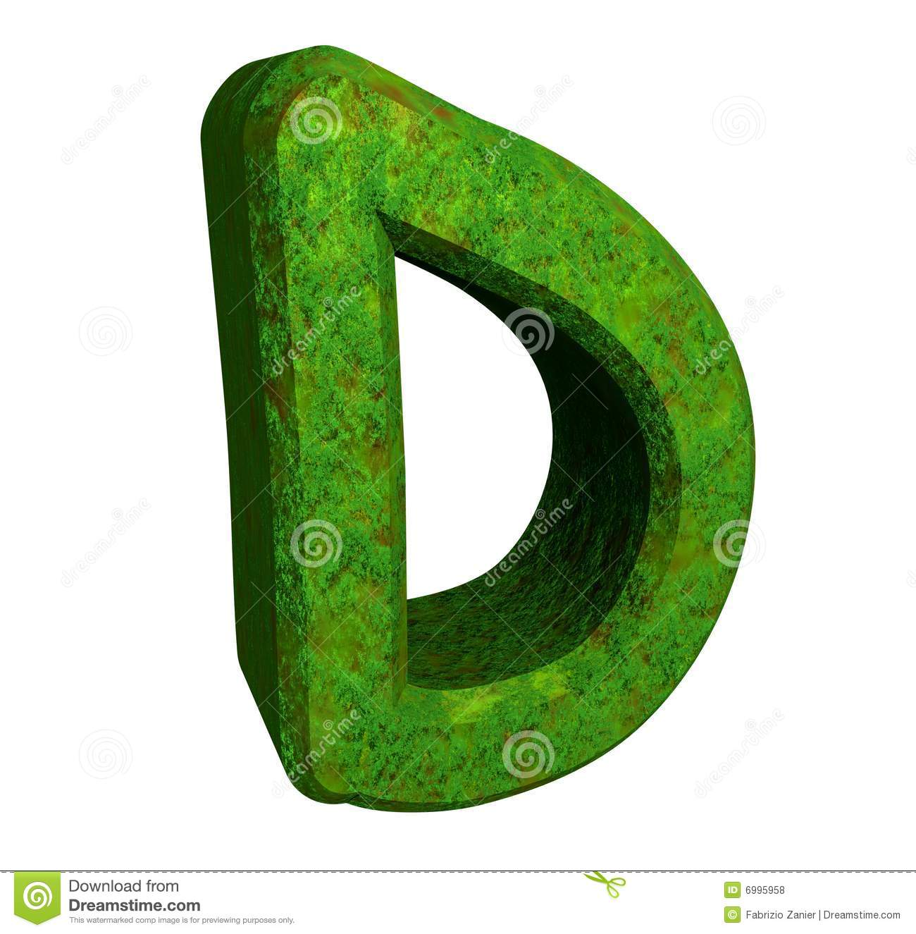 3d Letter D In Green Grass Royalty Free Stock Photos ...