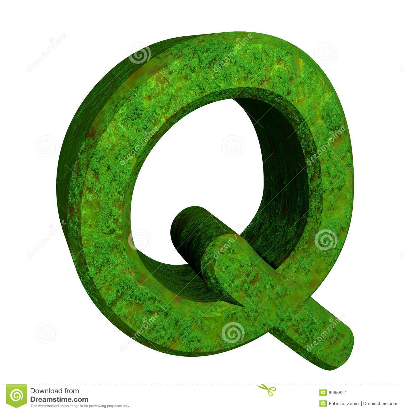 3d Letter Q In Green Grass Royalty Free Stock Photography - Image ...