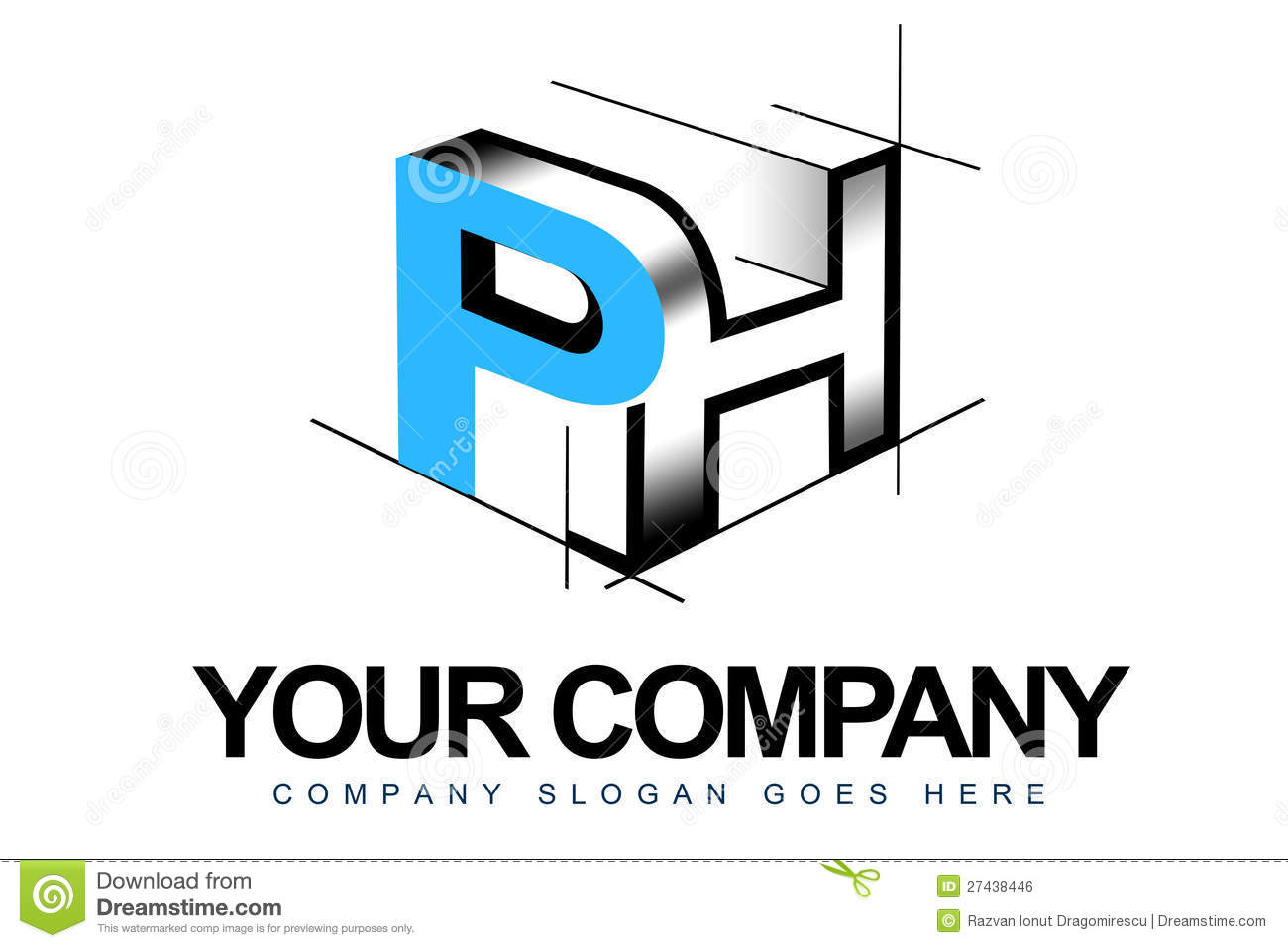 3D Letters Logo Royalty Free Stock Image - Image: 27438446