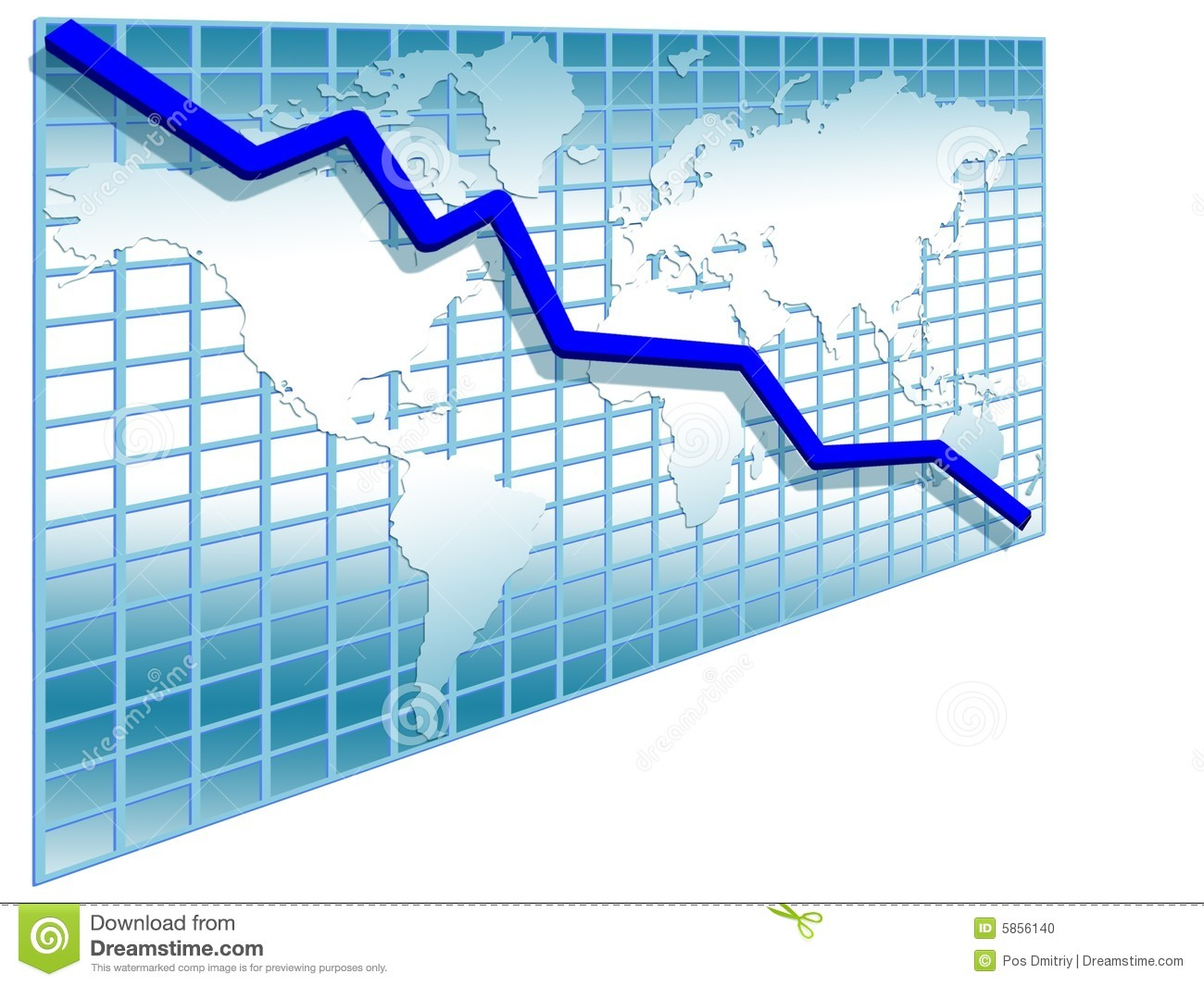 3d line chart stock illustration. illustration of graphics - 5856140