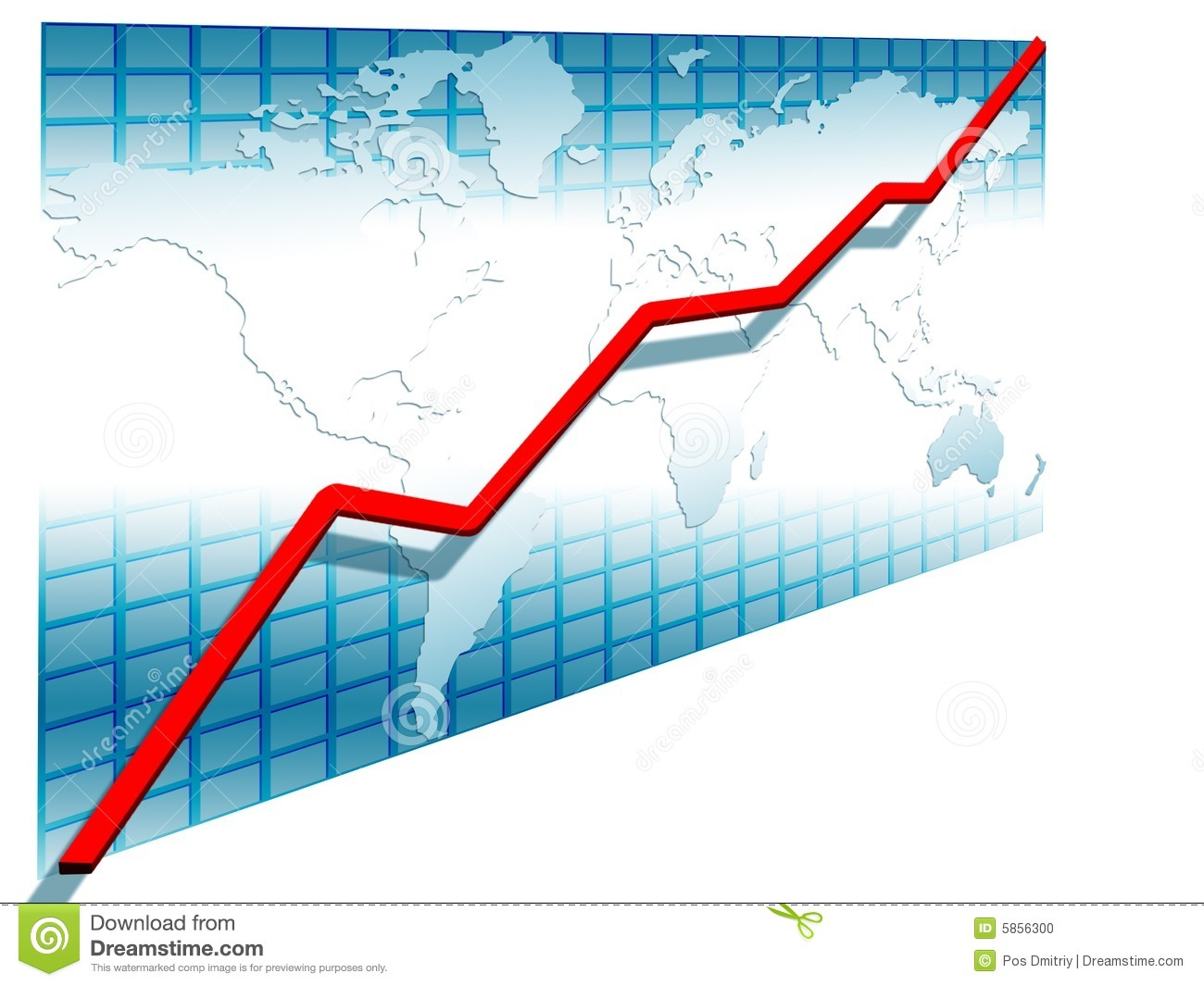 3d line chart stock illustration. illustration of line - 5856300