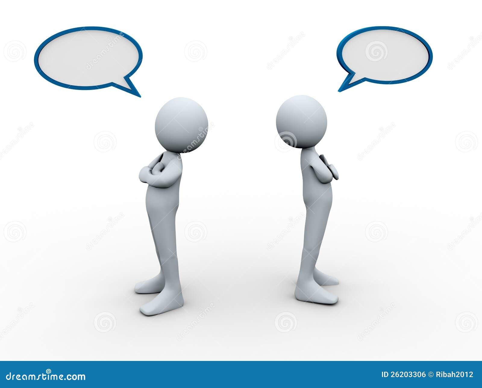 3d ludzie konfliktu bąbla mowy