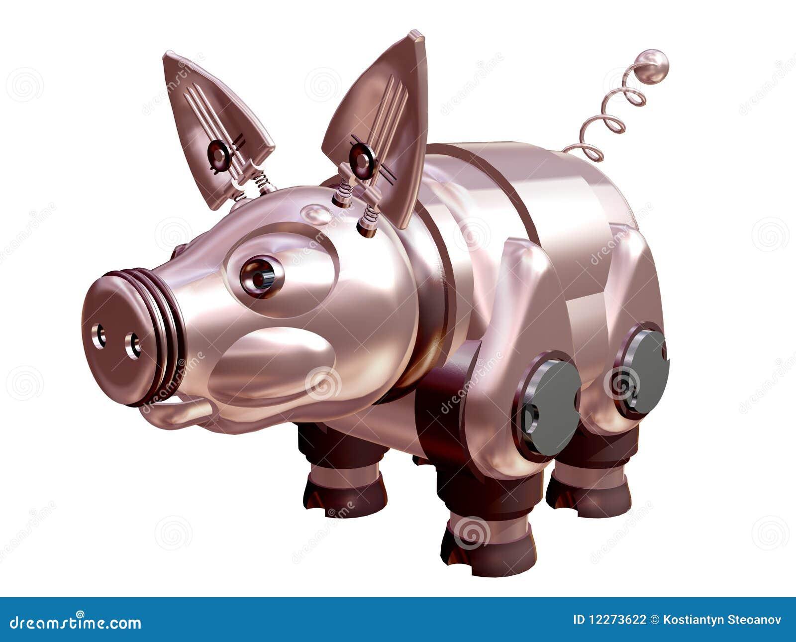 3d machinalna kruszcowa świnia