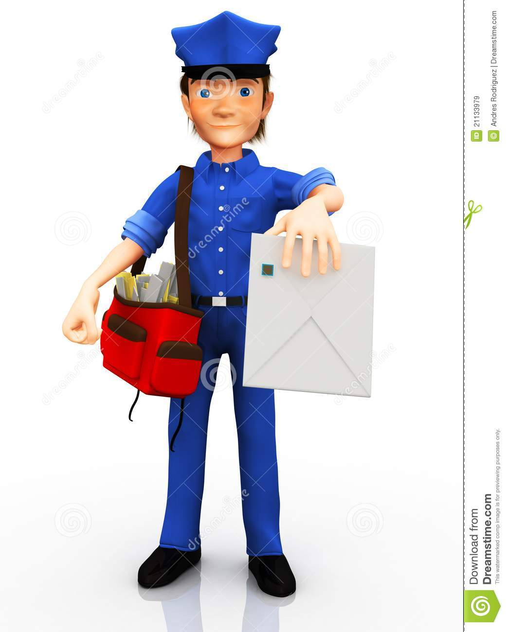 3D Mailman Royalty Free Stock Images - Image: 21133979