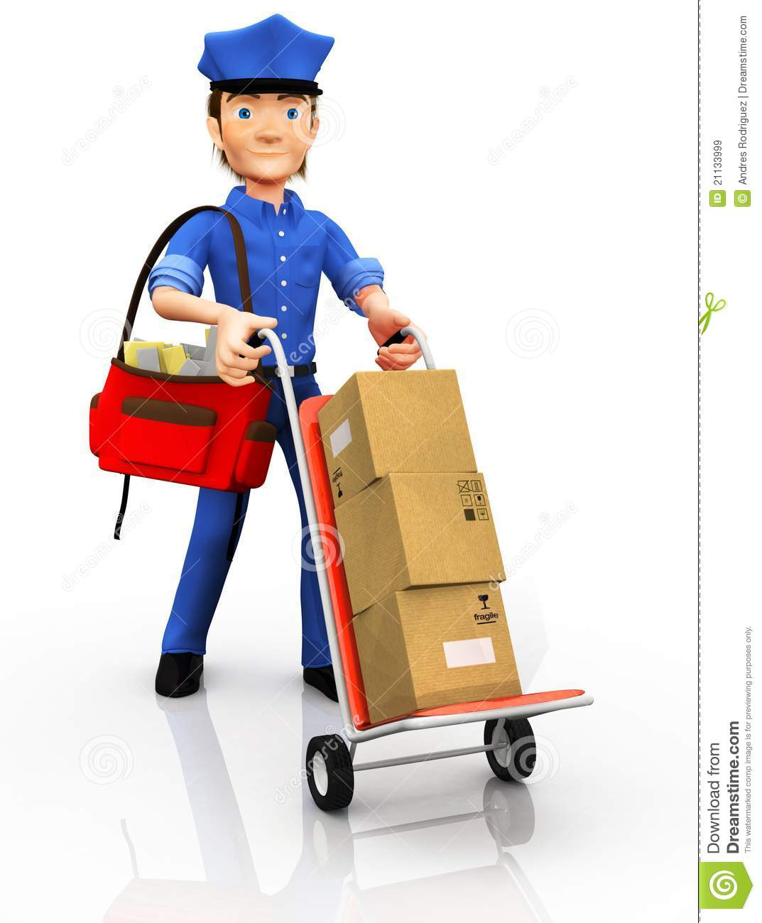 3D Mailman Royalty Free Stock Images - Image: 21133999