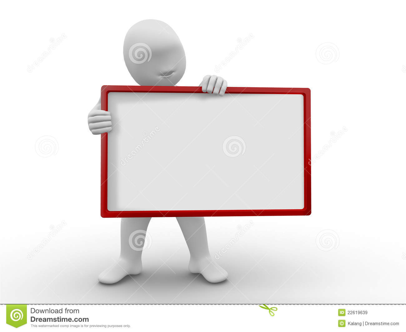 3d Man With Board Royalty Free Stock Images Image 22619639