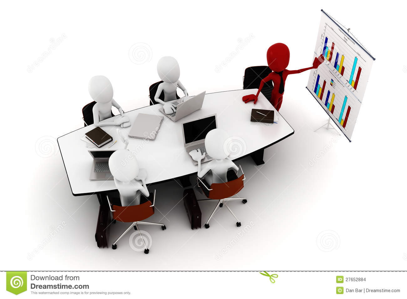 3d Man Business Meeting Stock Images Image 27652884