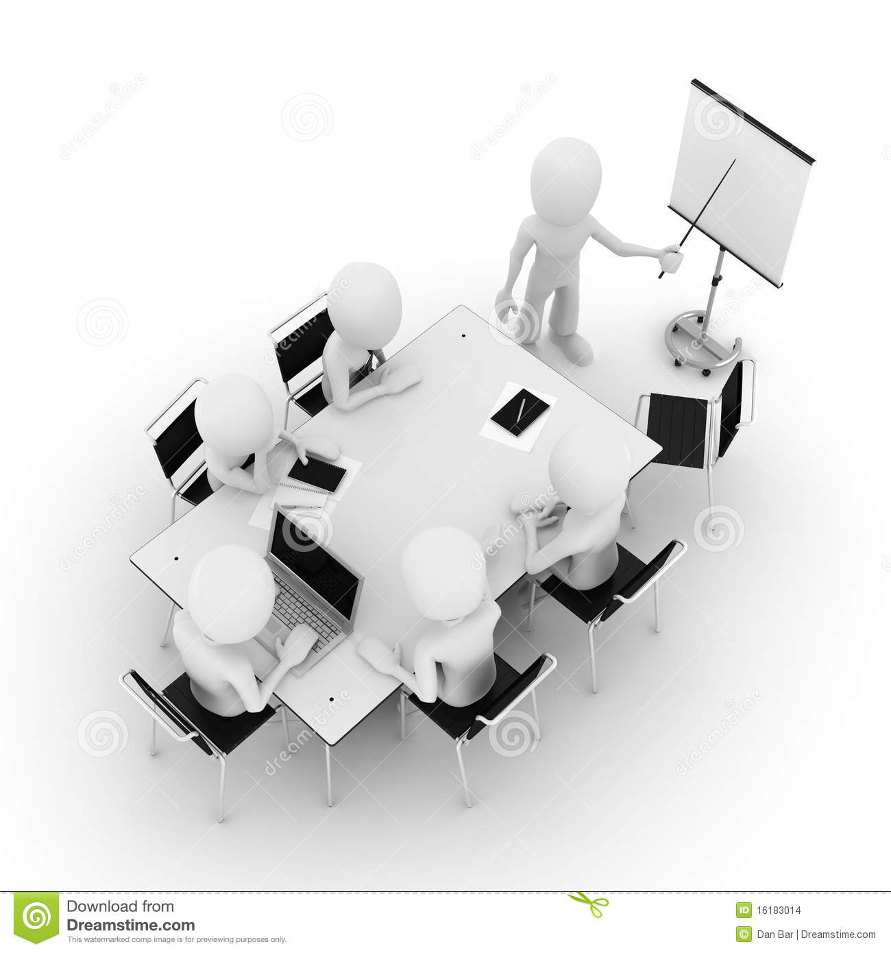 Stock Images 3d Man Business Meeting Isolated White Image16183014 on man alarm clock
