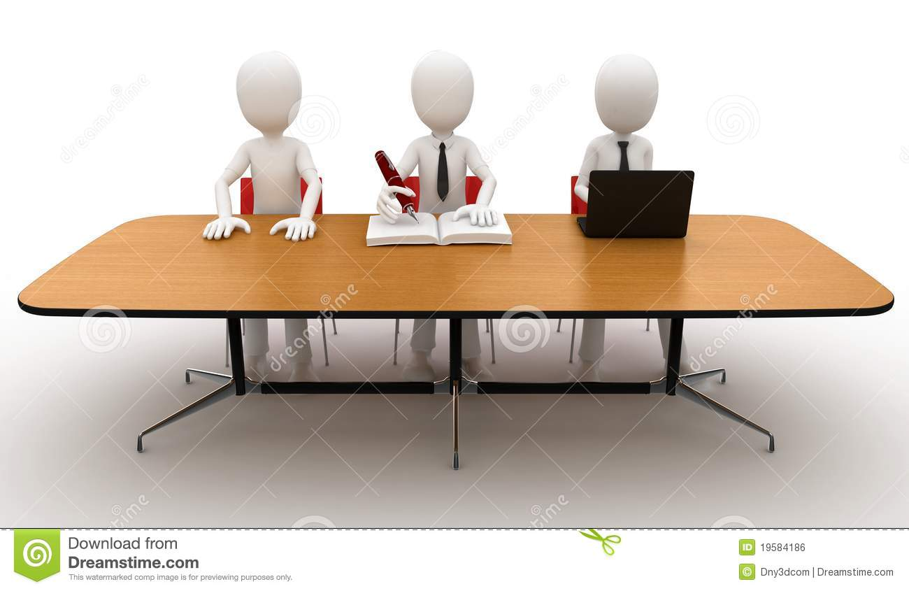3d man at contest jury table royalty free stock image for Table 3d dessin