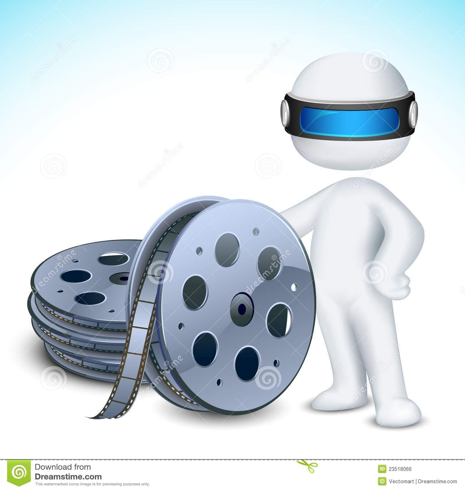 3d Man with Film Reel