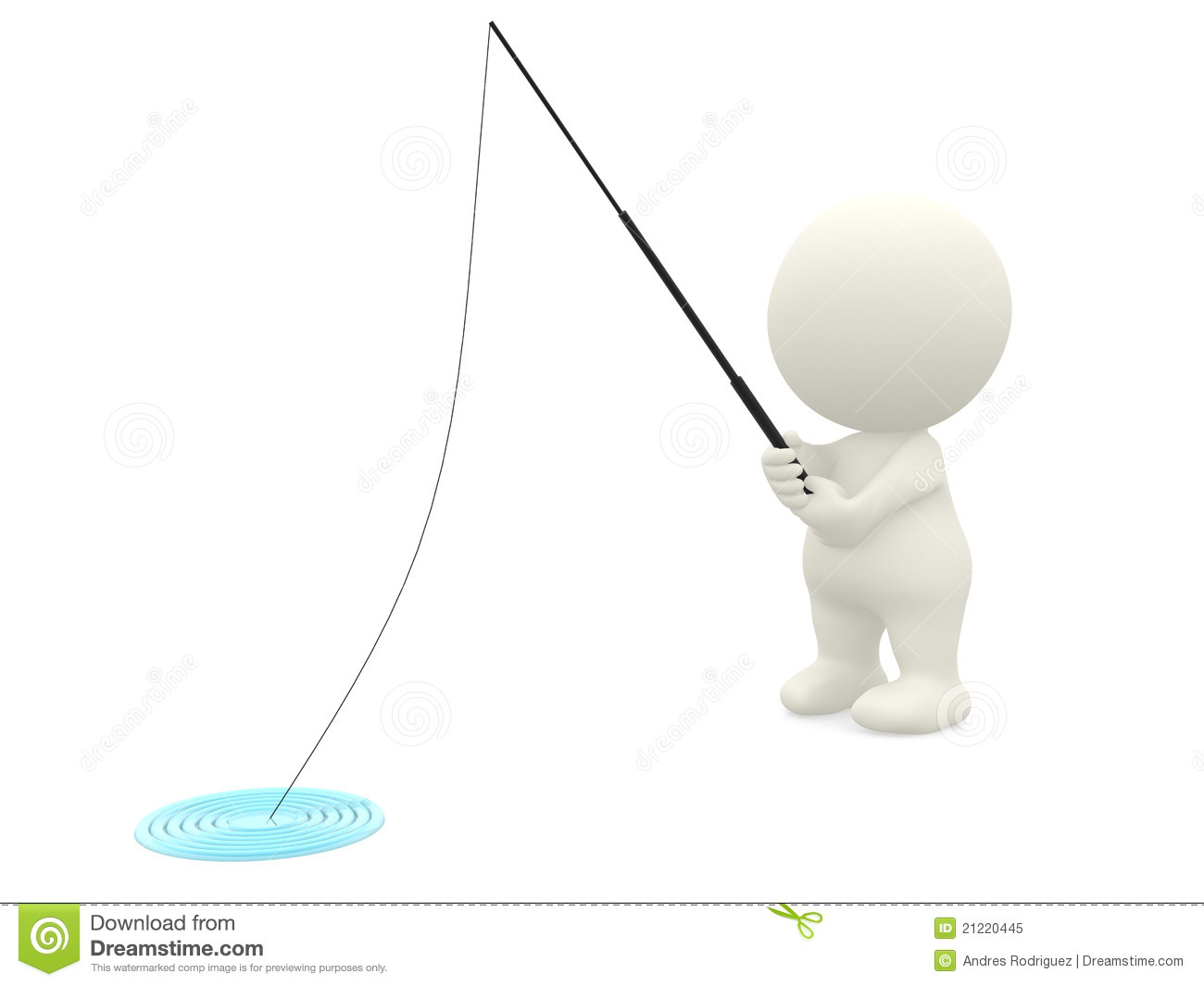 3d man fishing stock illustration image of male three for Fishing times free