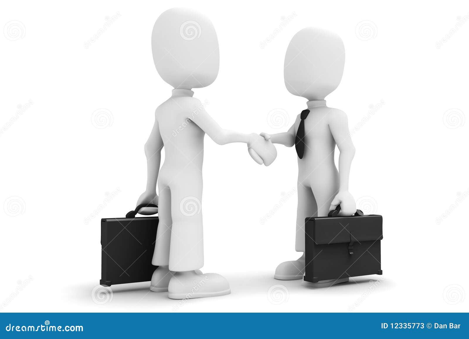 Imagens De Cumprimento: 3d Man Handshake Stock Illustration. Illustration Of