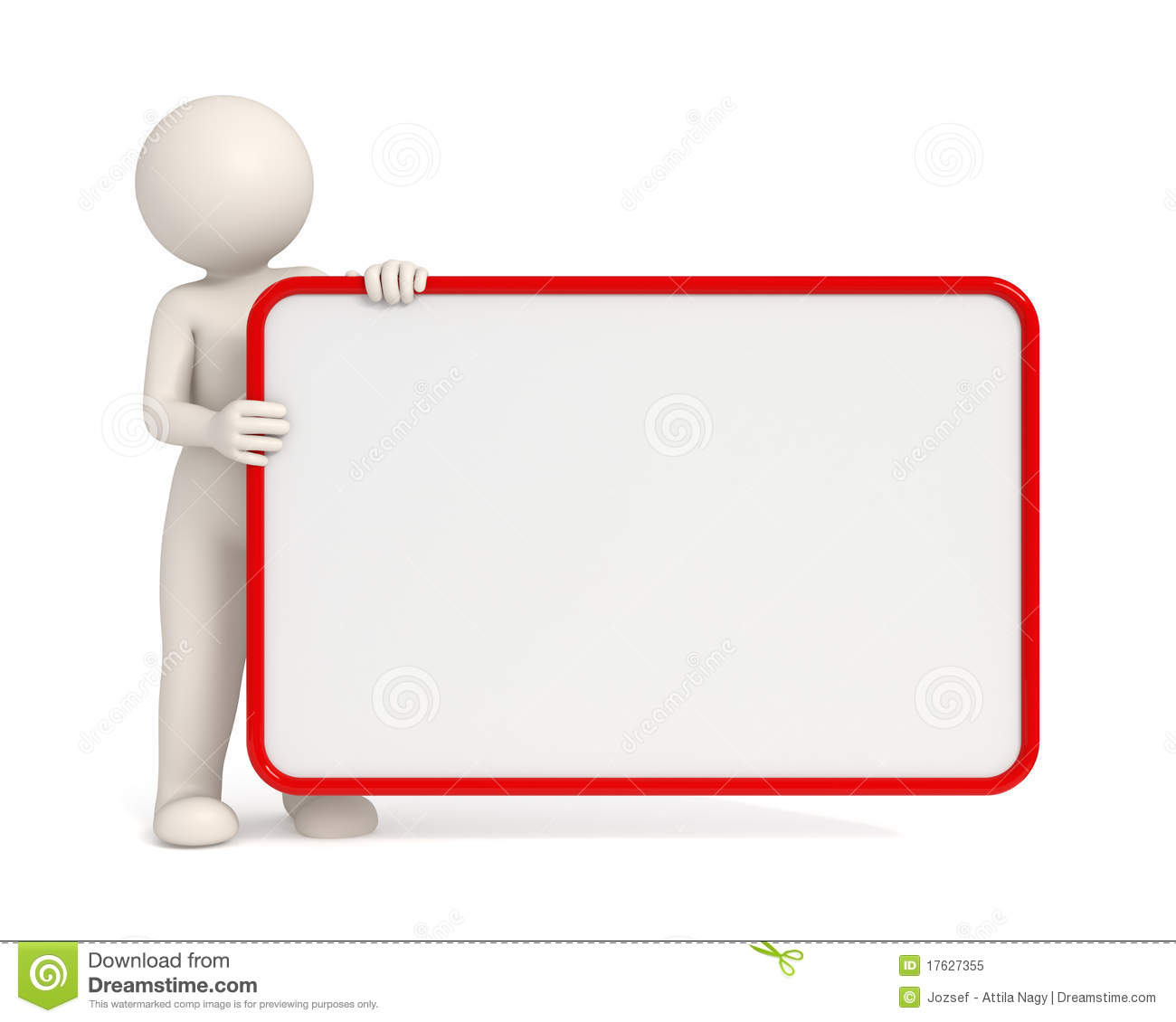 Royalty Free Stock Photo 3d Man Holding Empty Board Red Frame Image17627355 on Latest App To Write On Pictures