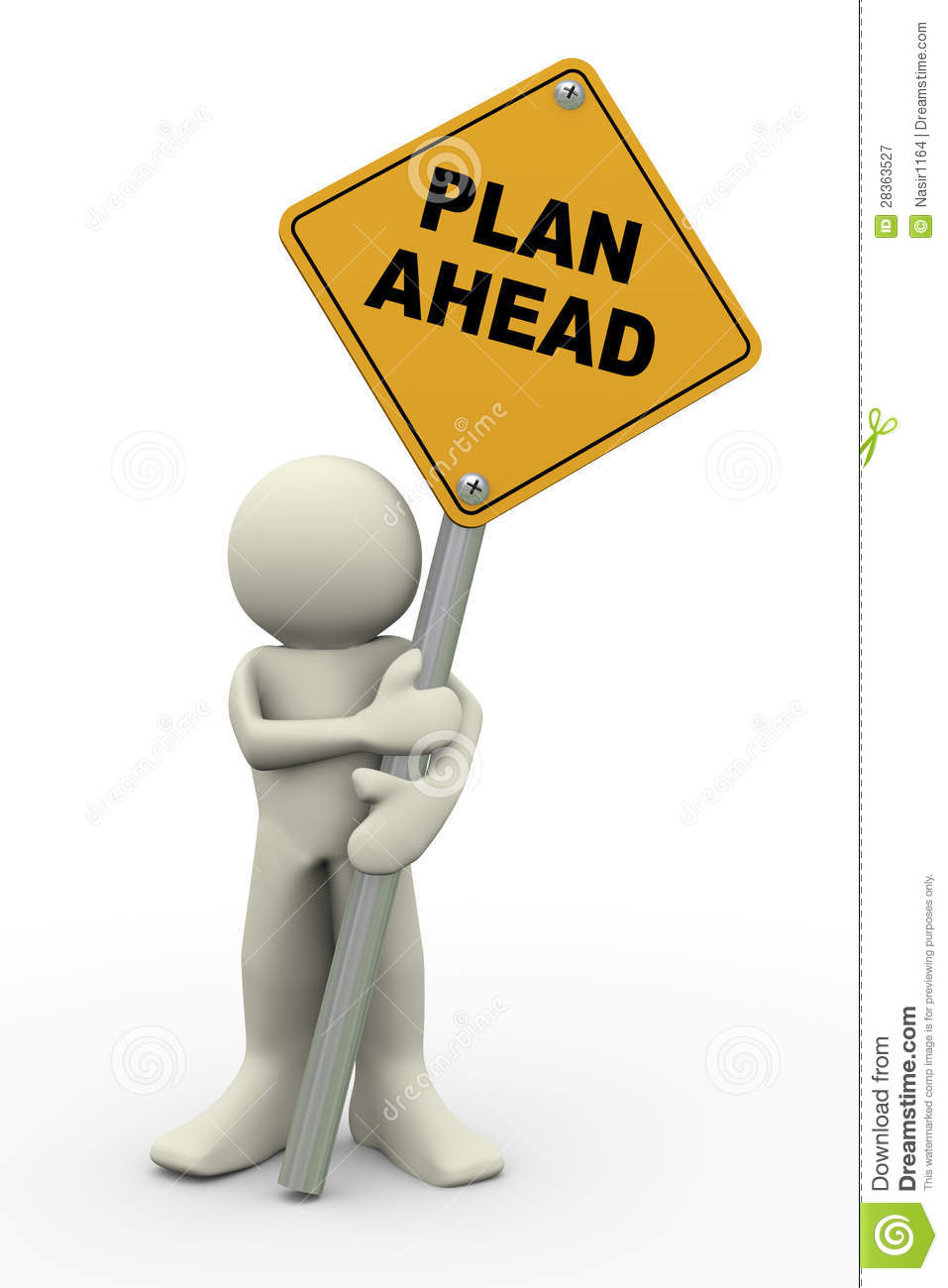 3d man holding plan ahead sign royalty free stock for 3d planner free