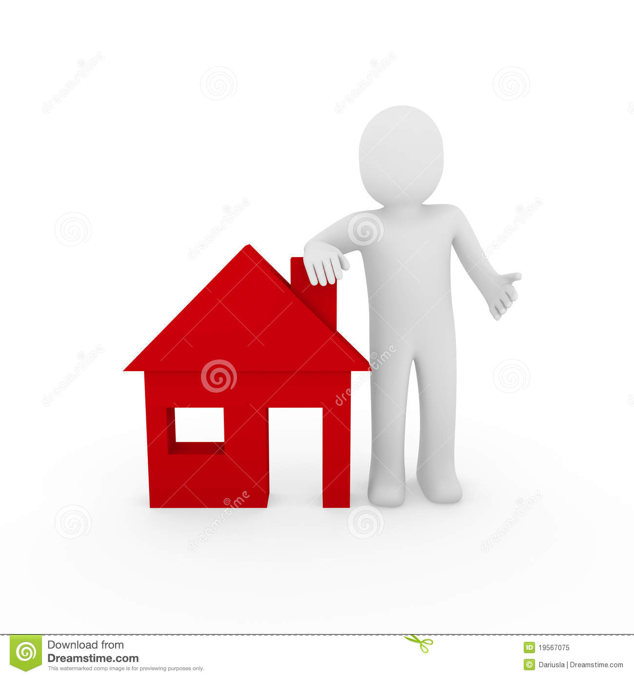 Download Free Sweet Home 3d Sweet Home 3d 4 1 Download: 3d Man House Red Stock Illustration. Illustration Of Home