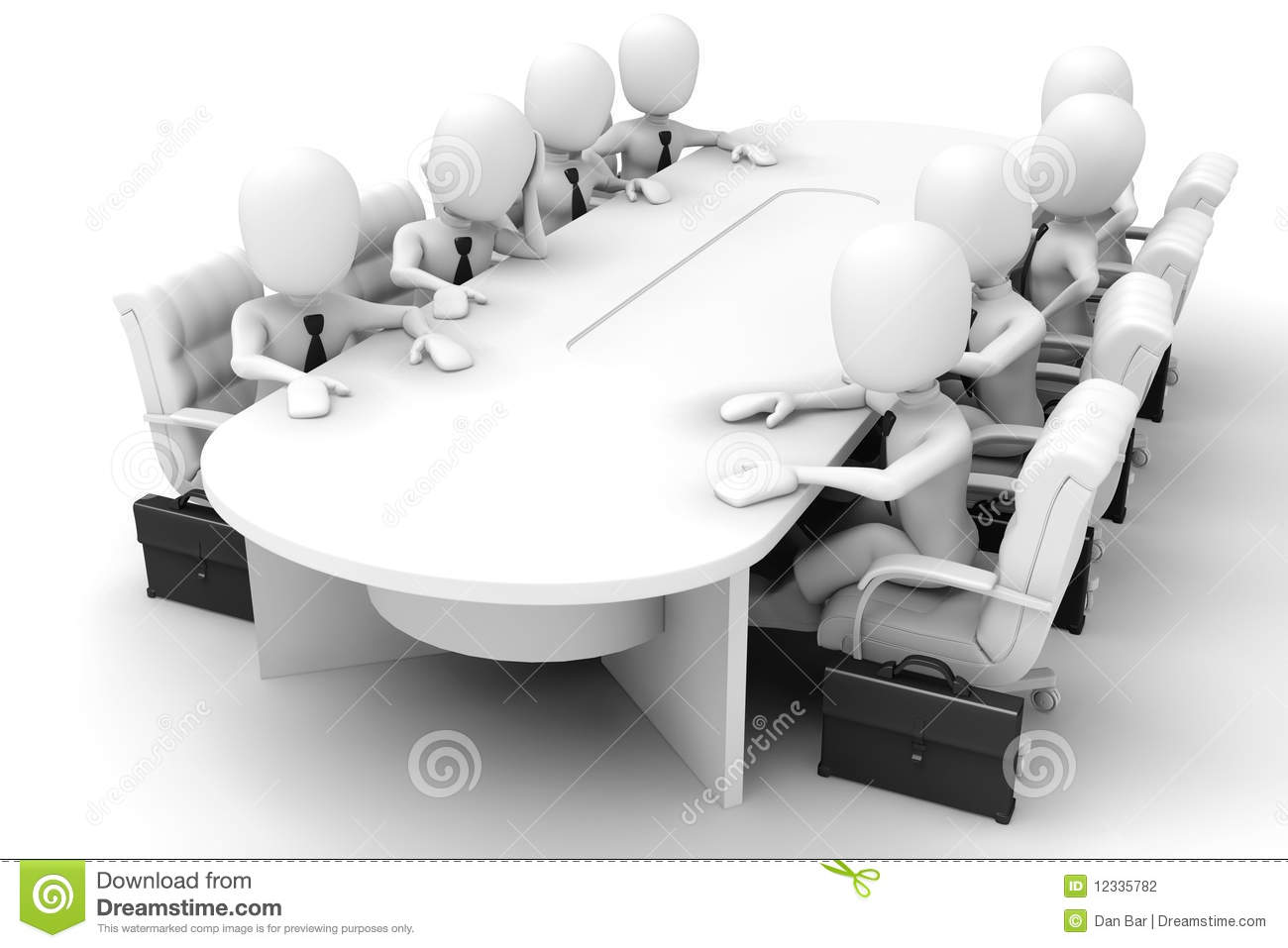 3d Man - Meeting Stock Photography - Image: 12335782