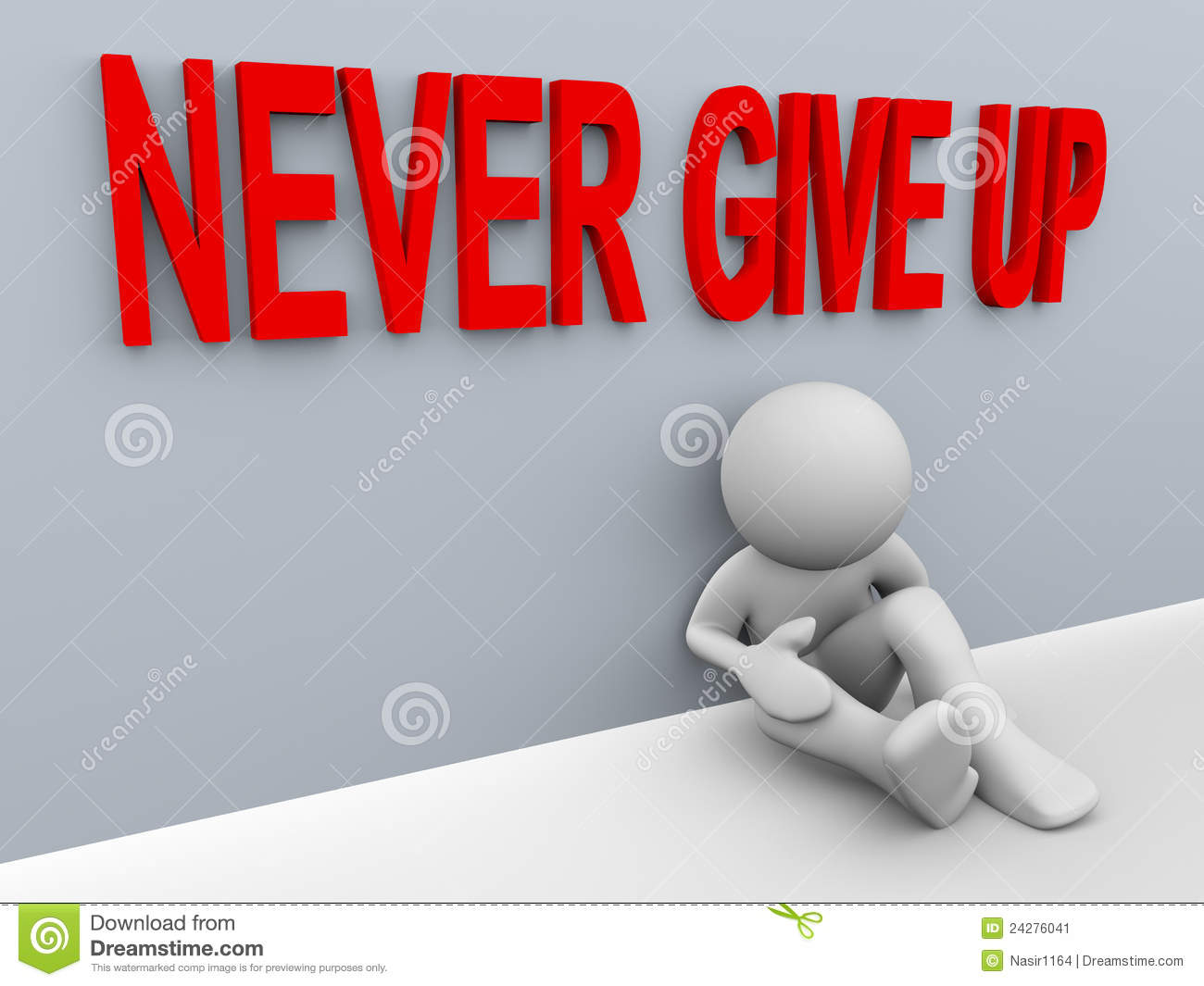 3d man - never give up