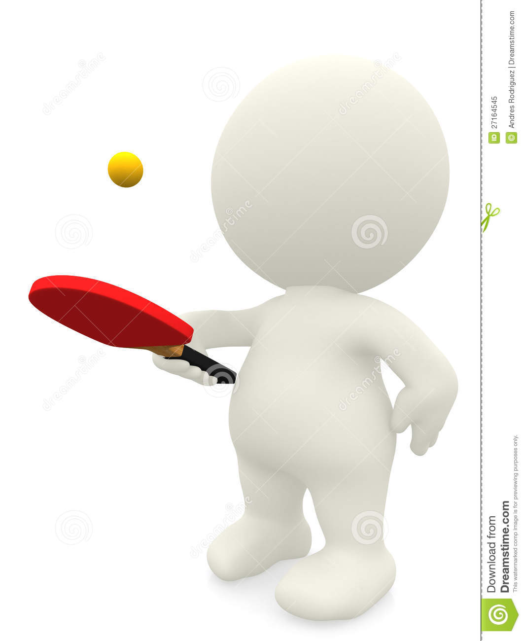 3d Man Playing Ping Pong Stock Illustration Illustration