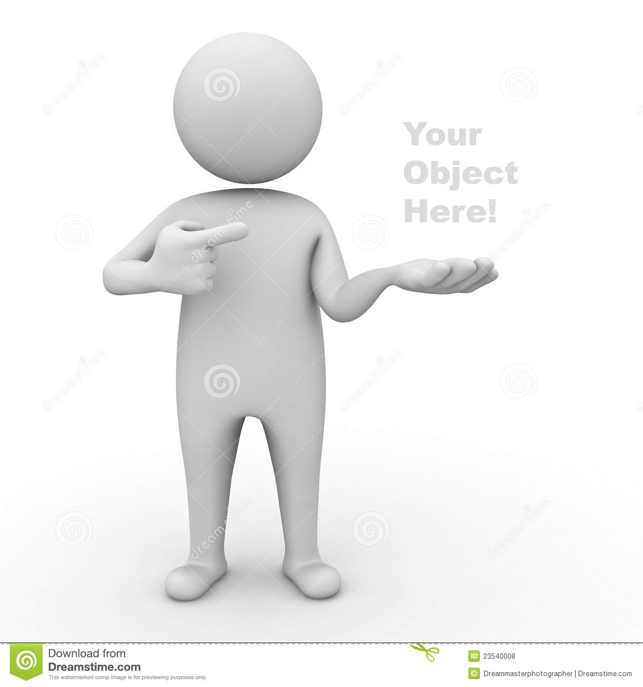 3d man presenting your product royalty free stock photos image