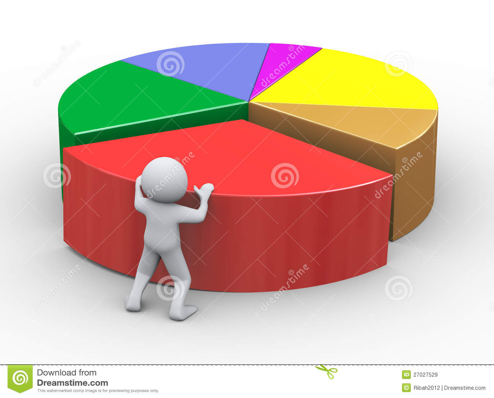 3d man pushing pie chart piece stock illustration image 27027529 3d man pushing pie chart piece nvjuhfo Images