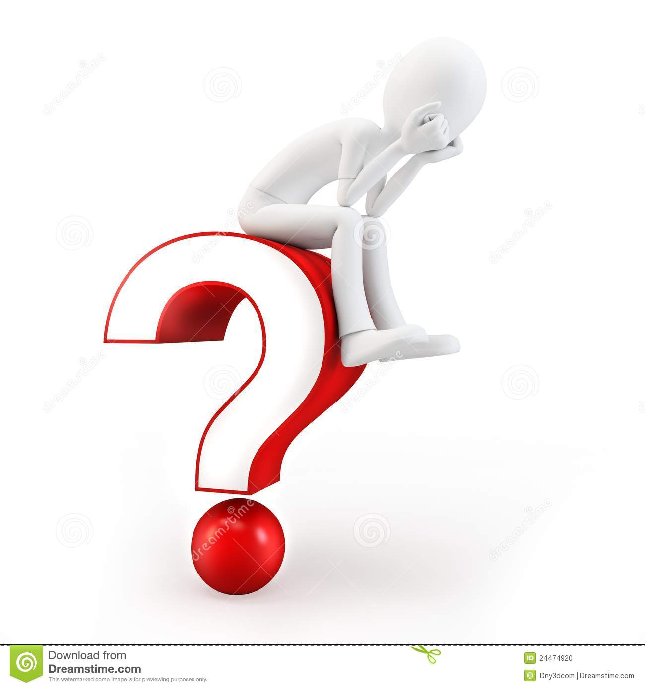3d person with magnifying glass and question mark stock images image - 3d Man Sitting On A Question Mark Stock Photo