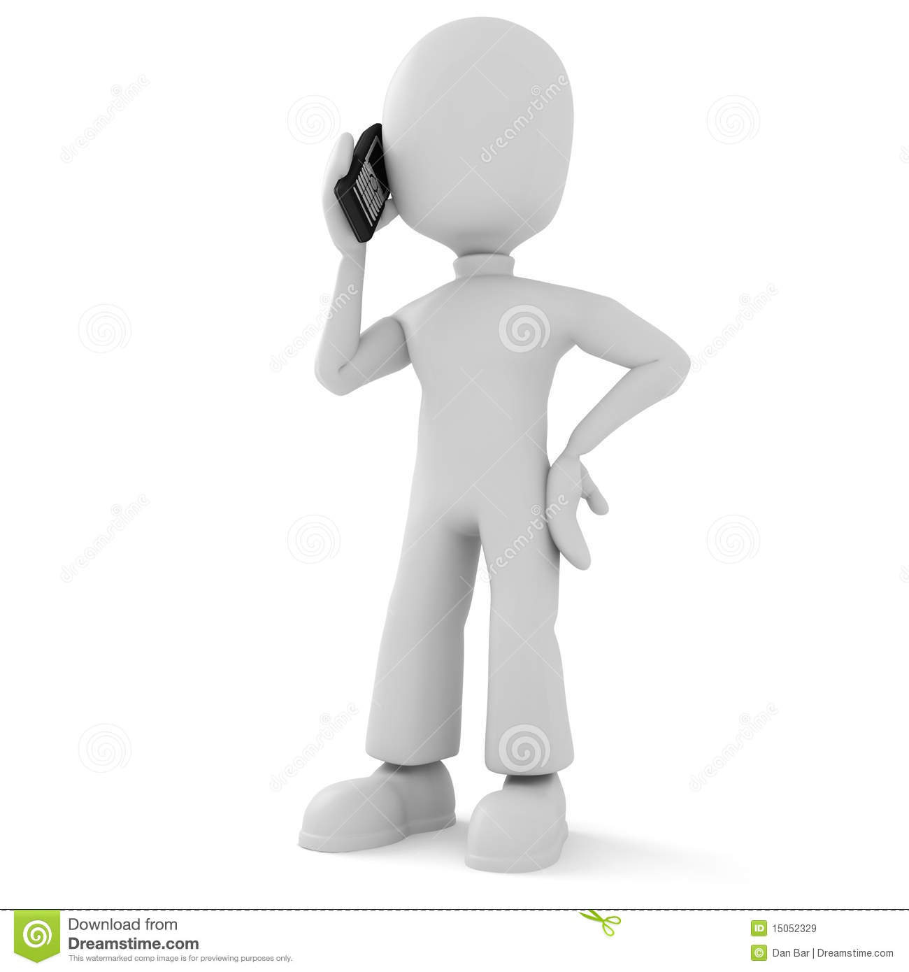 3d Man, Speaking On The Phone Royalty Free Stock Images ...