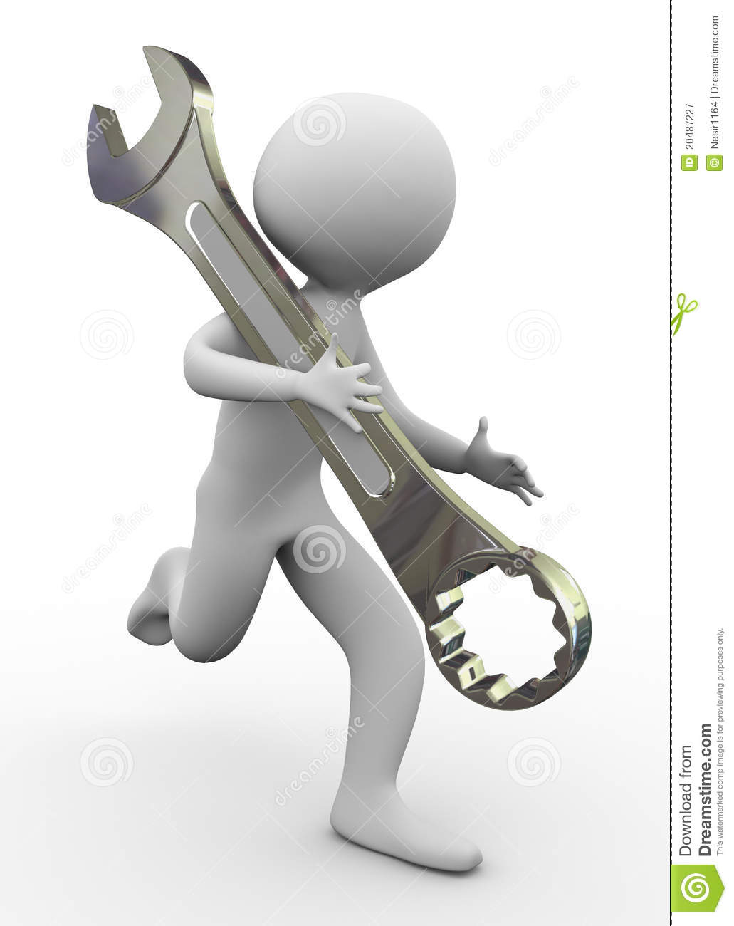 3d man and tool royalty free stock photography image 3d tool free