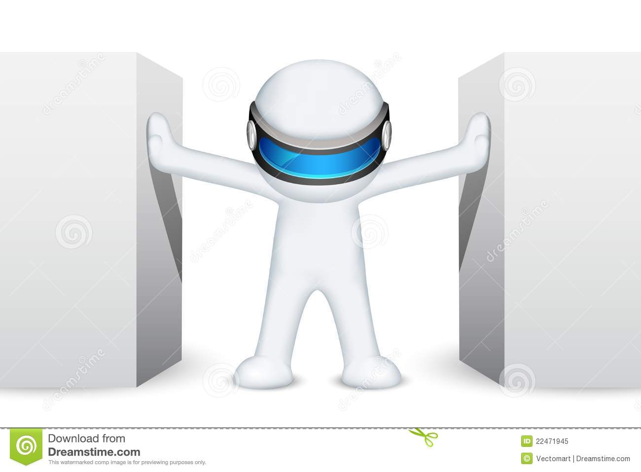3d Man in Vector