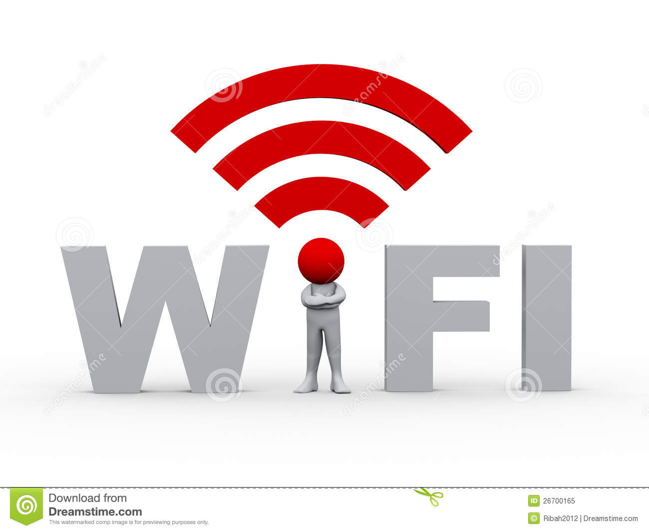 Hotspot With Unlimited Data >> 3d man in the wifi stock illustration. Illustration of hotspot - 26700165
