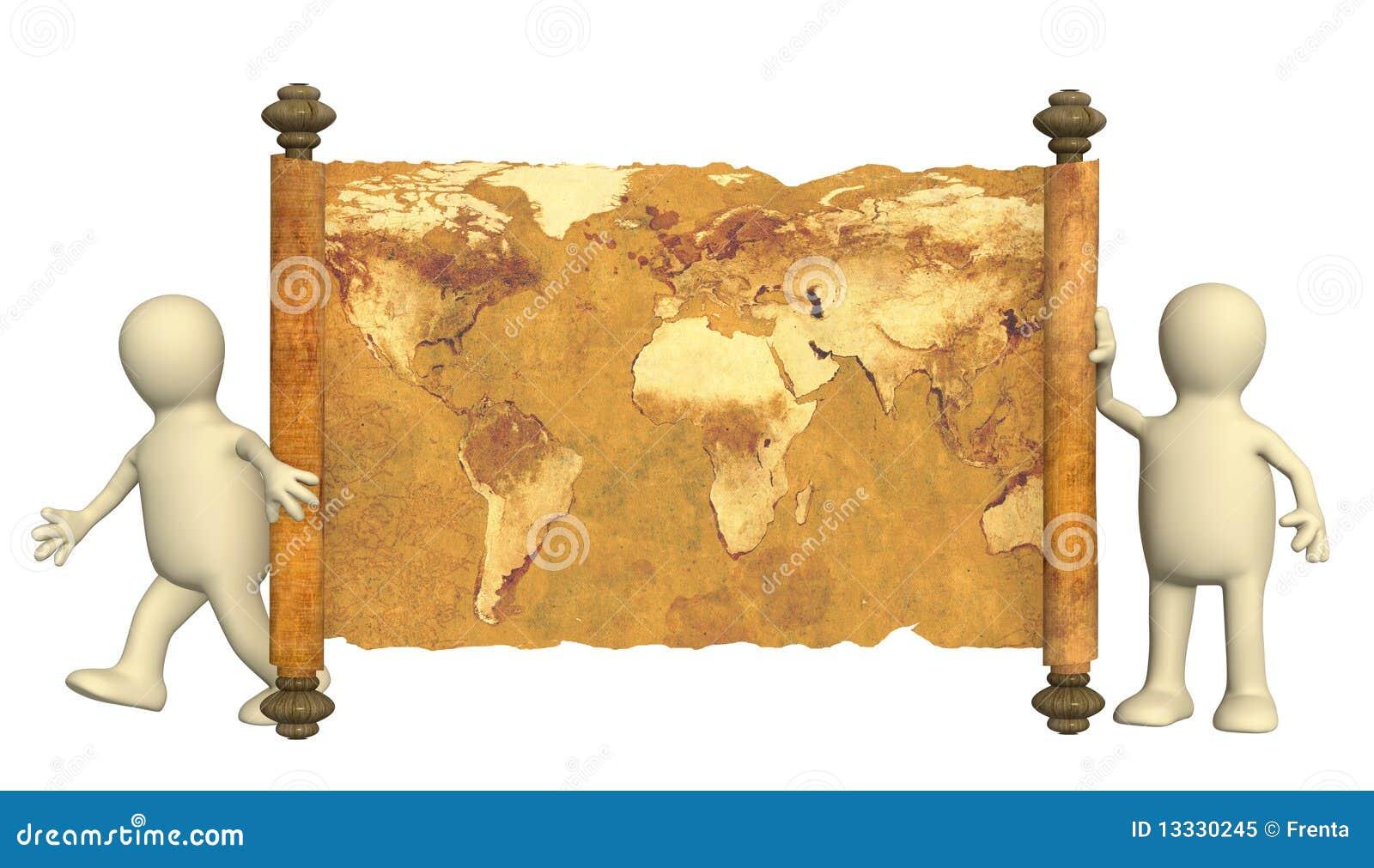 3d map antyczne kukły