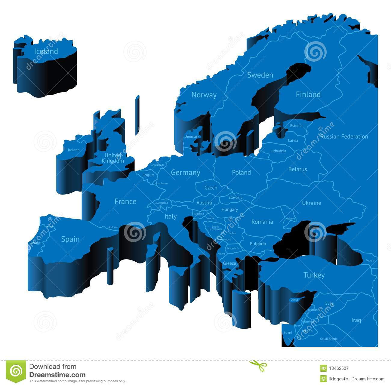3d Map Of Europe Royalty Free Stock Photography - Image ...: https://www.dreamstime.com/royalty-free-stock-photography-3d-map-europe-image13462507