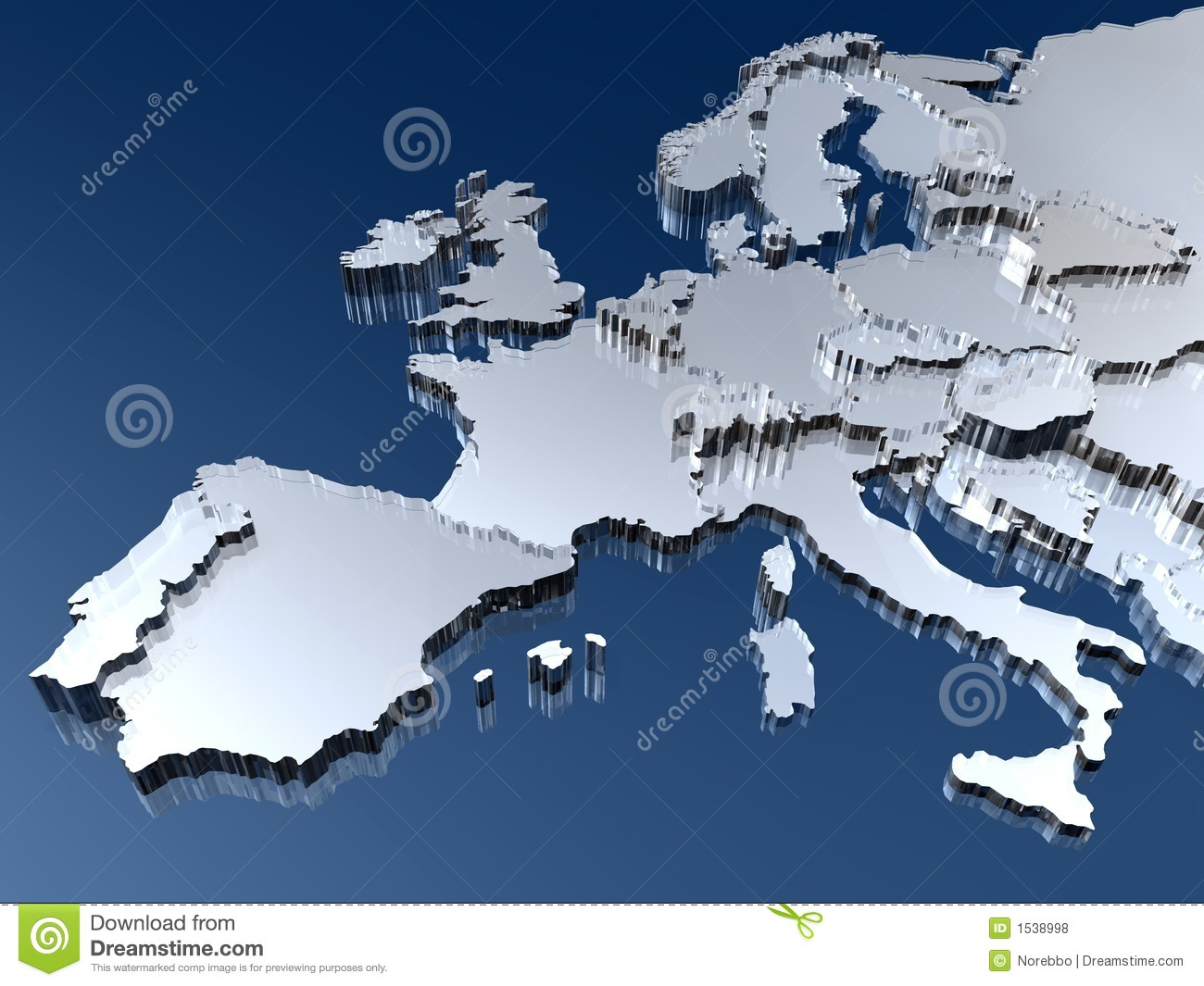 3d Map Of Europe Royalty Free Stock Photos Image 1538998