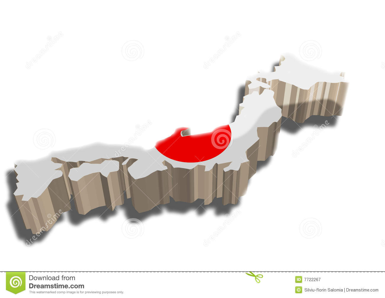 D Map Of Japan Royalty Free Stock Photography Image - Japan map 3d