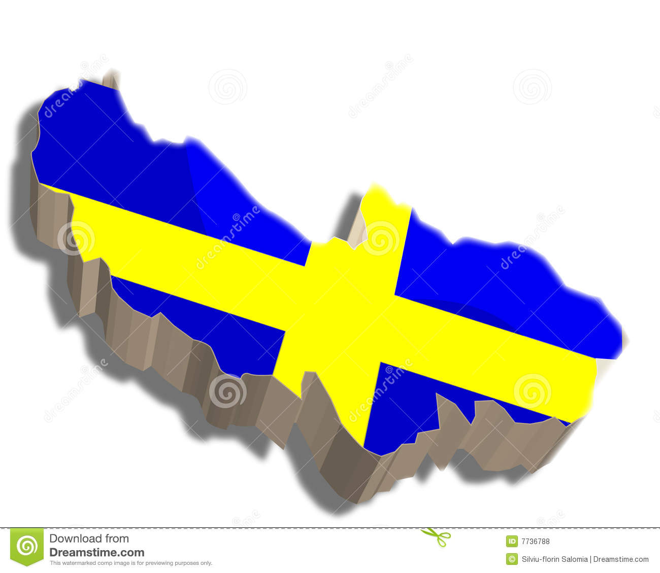 D Map Of Sweden Royalty Free Stock Photos Image - Sweden map 3d