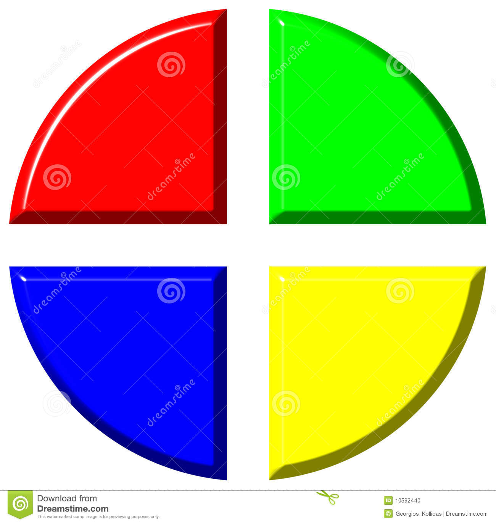 3d mapy kolorowi cztery równego pasztetowe porcje
