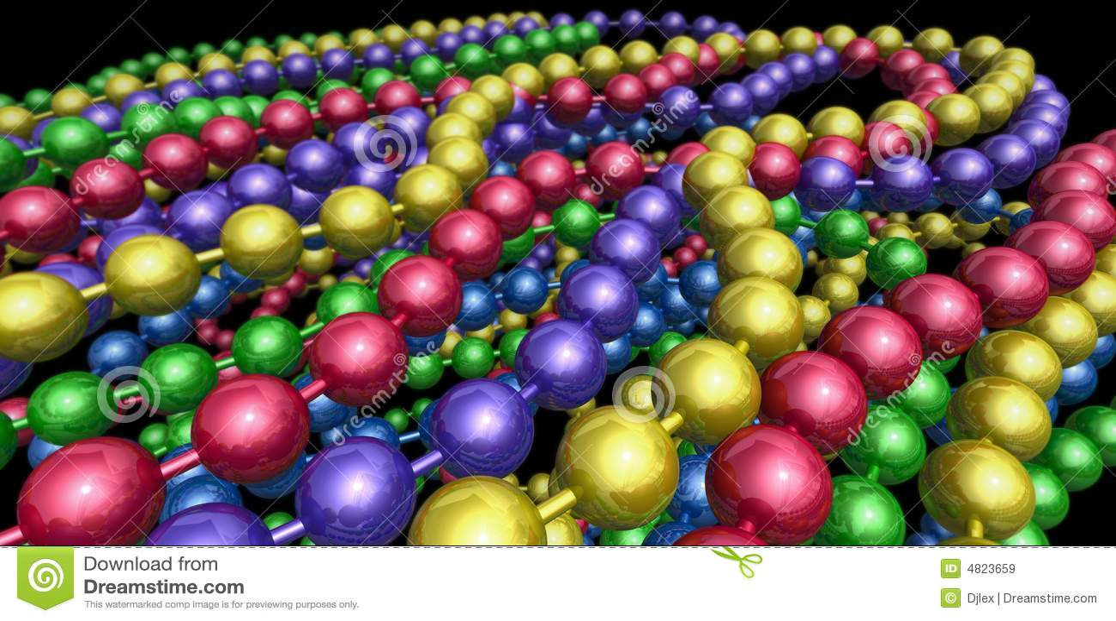 Mardi Gras Beads Border 3d mardi gras beads royalty
