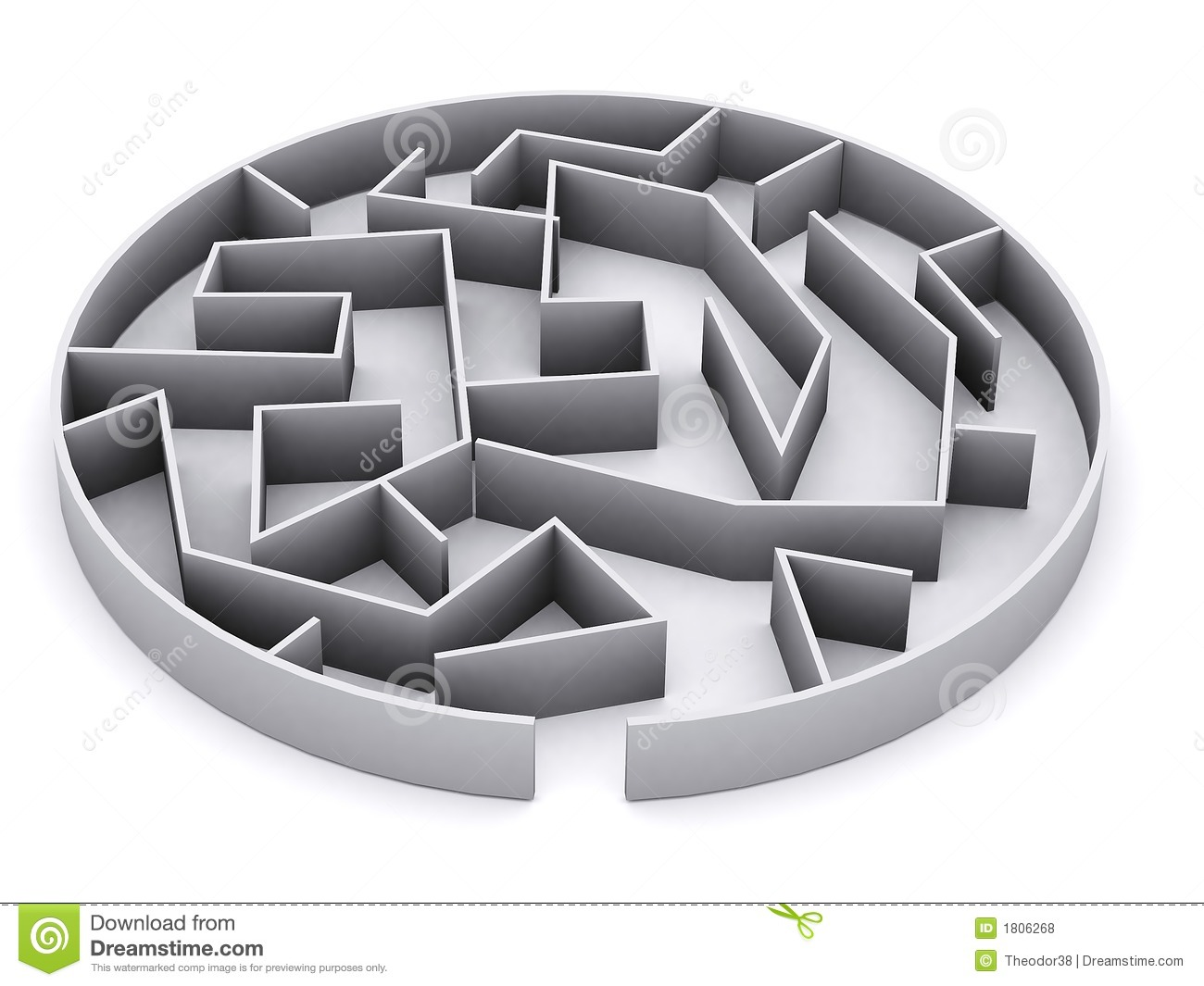3d Maze Royalty Free Stock Photos - Image: 1806268