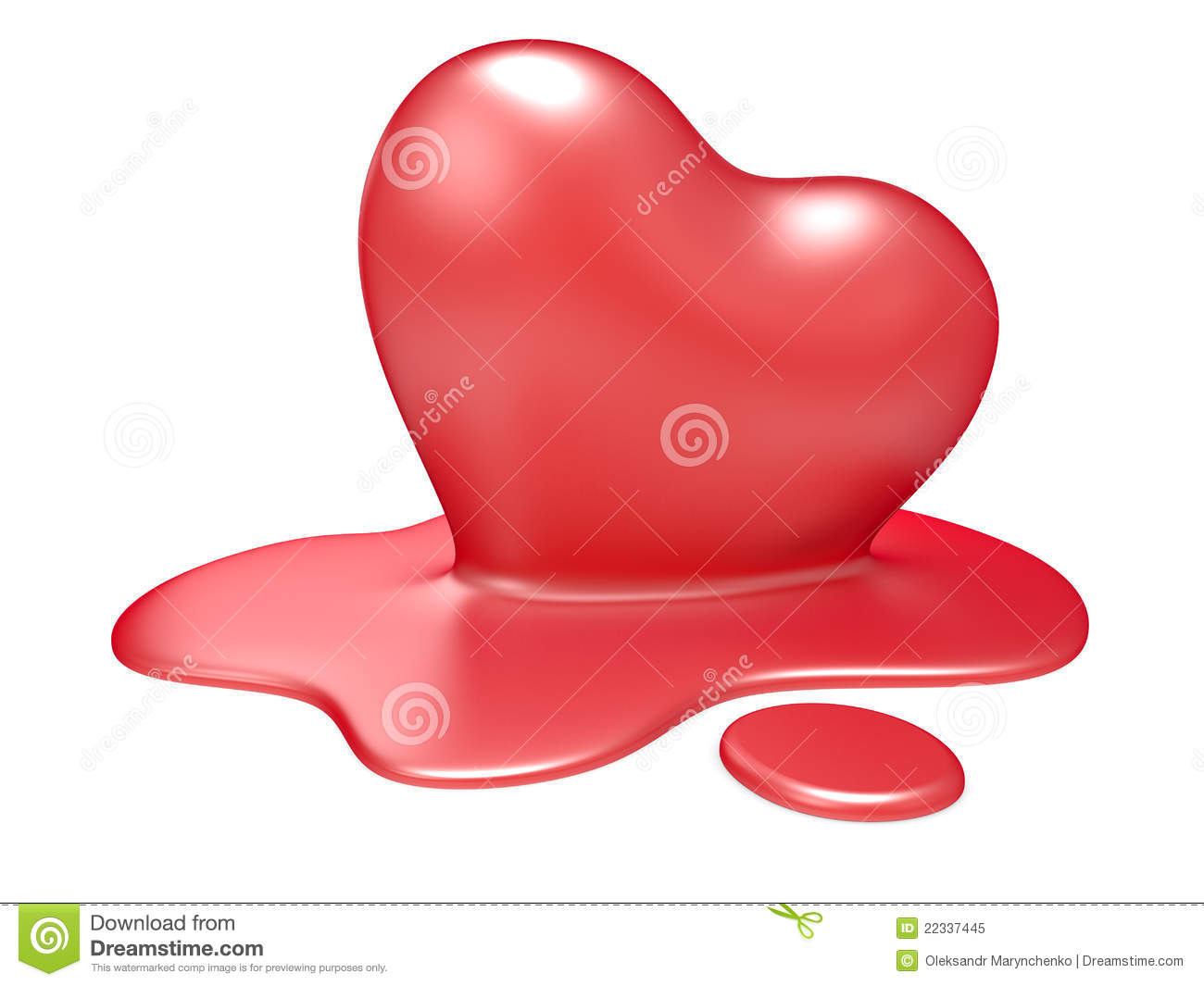 3d Melting Heart Royalty Free Stock Photo - Image: 22337445
