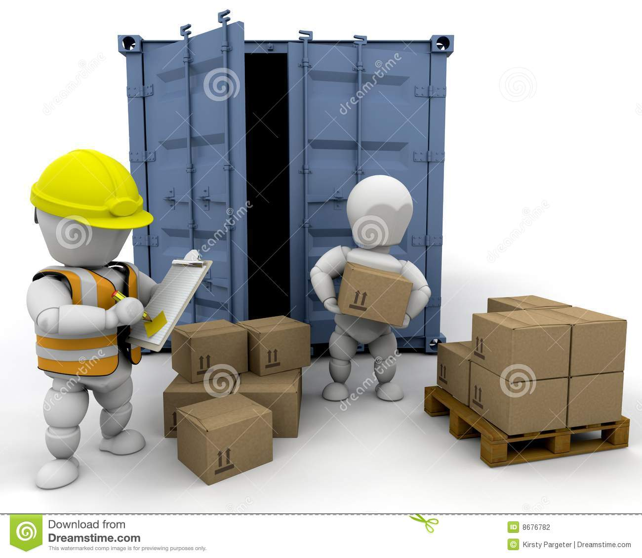 3d men handling materials stock illustration illustration for Waste material items