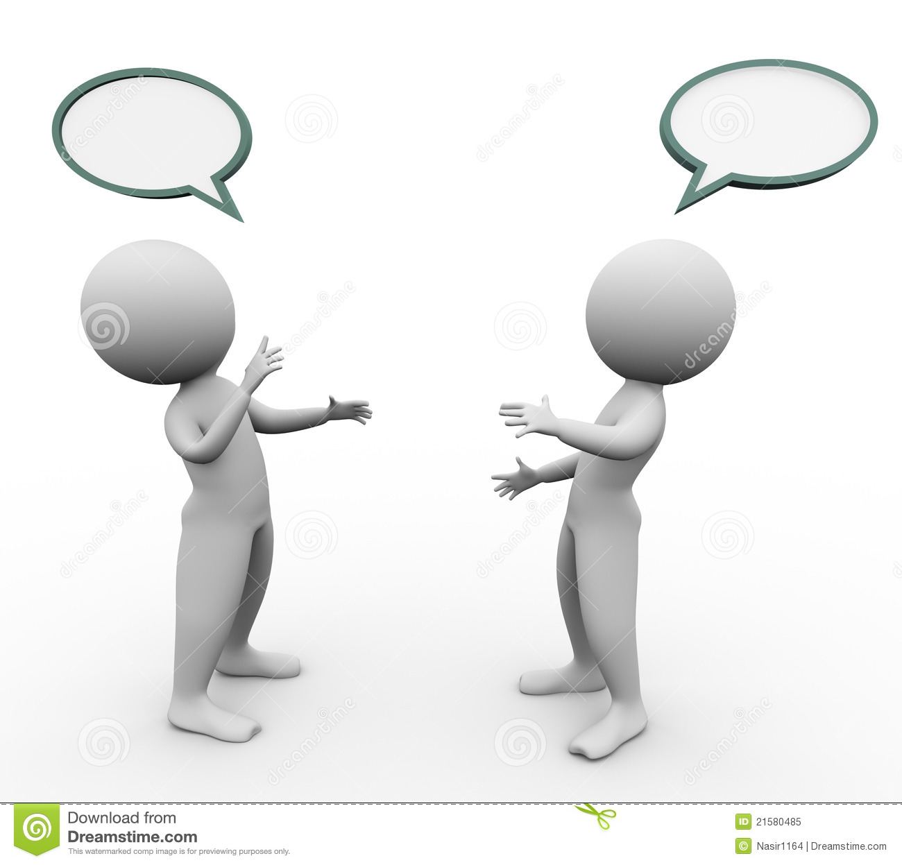 3d Men Speech Bubble Stock Illustration. Illustration Of