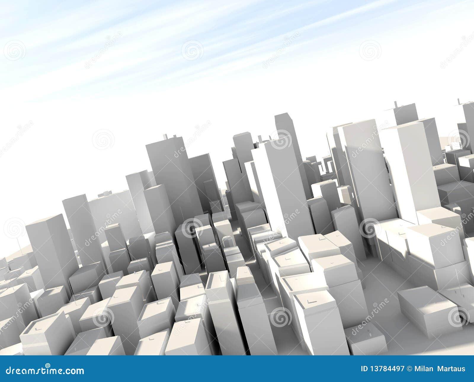 3d miasto model