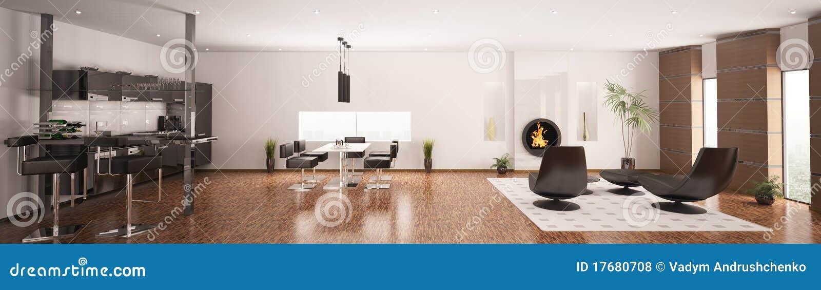 3d mieszkanie panorama wewnętrzna nowożytna odpłaca się