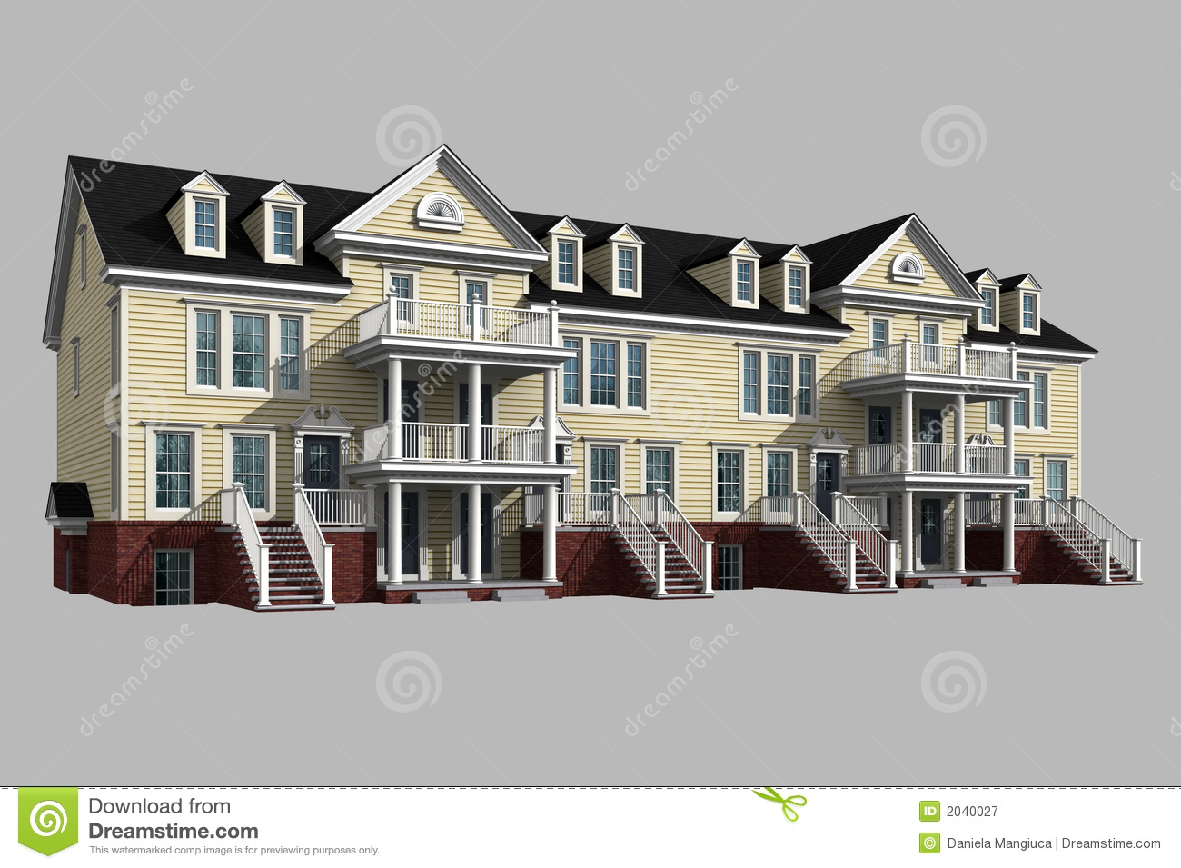 3d model of condominium royalty free stock photography image